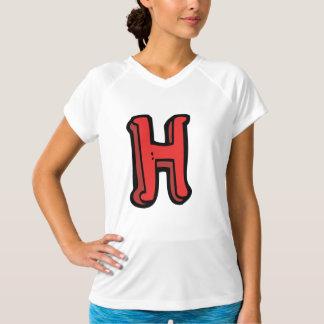 手紙Hレディース能動態のティー Tシャツ