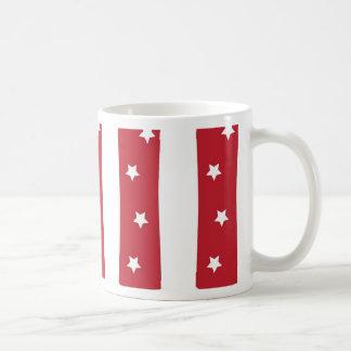 手紙I -えんじ色の白い星 コーヒーマグカップ