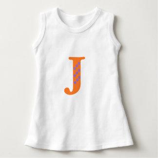 手紙jが付いているベストの上 ドレス