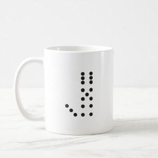 手紙Jのサイコロ コーヒーマグカップ