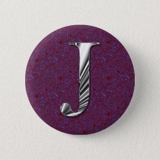 手紙Jのモノグラム 5.7CM 丸型バッジ