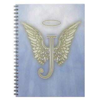 手紙Jの天使のモノグラム ノートブック