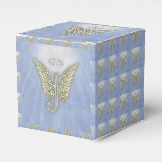 手紙Jの天使のモノグラム フェイバーボックス