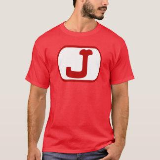 手紙Jの楕円形 Tシャツ