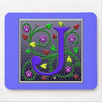 手紙Jの装飾用のプリント マウスパッド