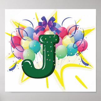 手紙Jポスターを祝って下さい ポスター