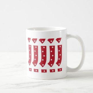 手紙J -えんじ色の白い星 コーヒーマグカップ