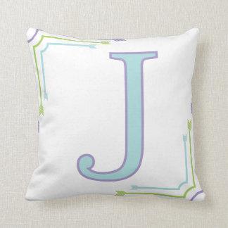 手紙J -モノグラムの枕 クッション