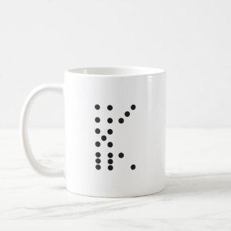手紙Kのサイコロ コーヒーマグカップ