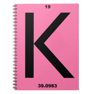 手紙Kのピンク ノートブック