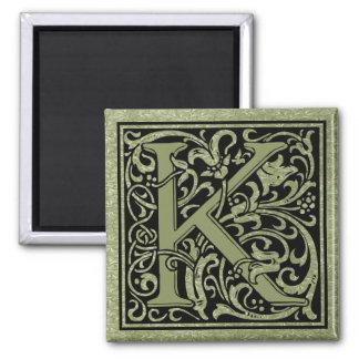 手紙K第1の手紙のモノグラム マグネット