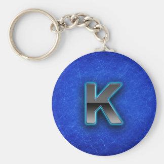 手紙K -ネオン青い版 キーホルダー