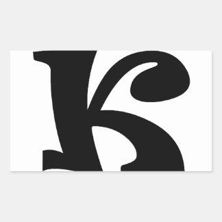手紙K_large 長方形シール