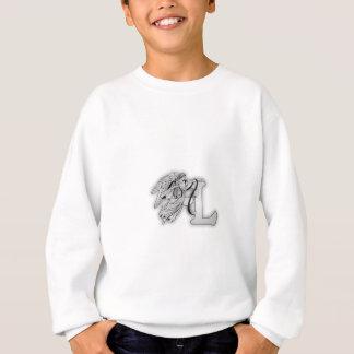 手紙L天使のモノグラムのイニシャル スウェットシャツ