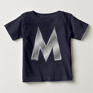 手紙Mのモノグラムのベビーのアメリカの服装のTシャツ ベビーTシャツ