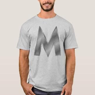 手紙Mのモノグラムの人の基本的なTシャツ Tシャツ