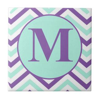 手紙Mのモノグラム タイル