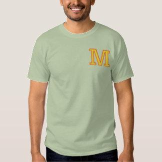 手紙M 刺繍入りTシャツ