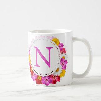 手紙Nのマグ コーヒーマグカップ