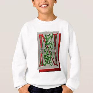 手紙Nの画像のアルファベットのモノグラム スウェットシャツ
