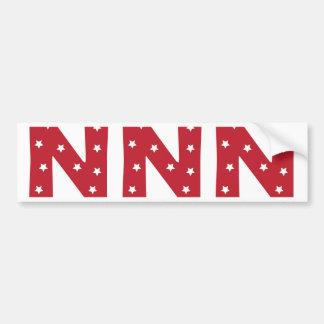 手紙N -えんじ色の白い星 バンパーステッカー