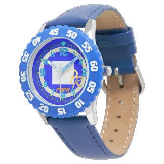 手紙Pのパパの航行の旗のWatersportsの子供 腕時計
