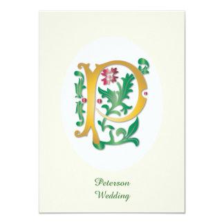 手紙Pのモノグラムの(紋章の)フラ・ダ・リ カード