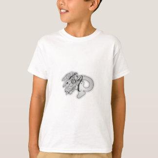 手紙Pの天使のモノグラムのイニシャル Tシャツ