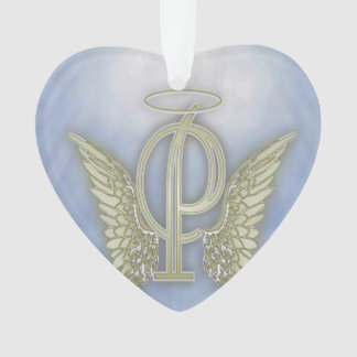手紙Pの天使のモノグラム オーナメント