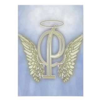 手紙Pの天使のモノグラム カード