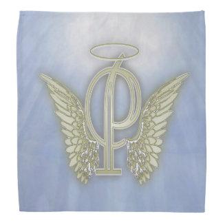 手紙Pの天使のモノグラム バンダナ