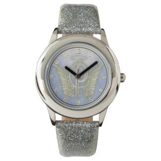 手紙Pの天使のモノグラム 腕時計