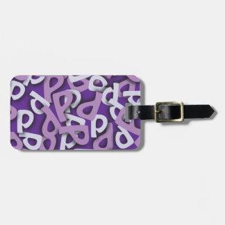 手紙Pの紫色 ラゲッジタグ