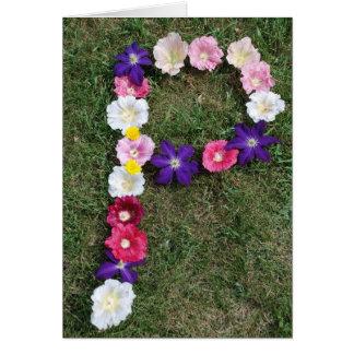 手紙Pの花 カード