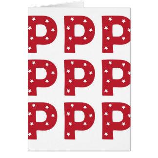 手紙P -えんじ色の白い星 カード