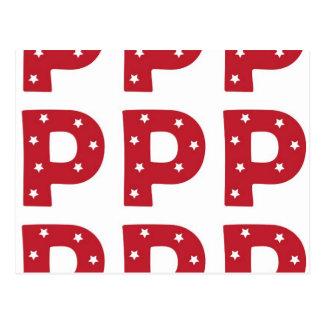 手紙P -えんじ色の白い星 ポストカード
