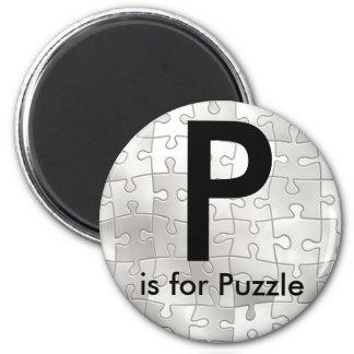 """""""手紙P""""はパズルの子供の磁石のためです マグネット"""