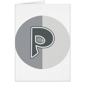 手紙P カード