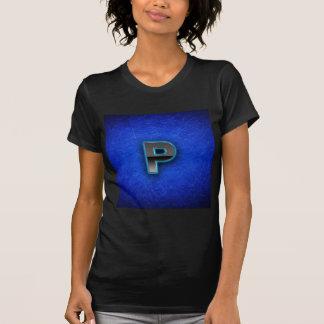 手紙P -ネオン青い版 Tシャツ