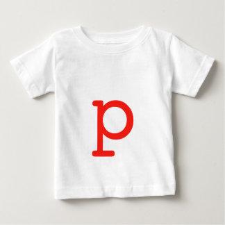 手紙p ベビーTシャツ