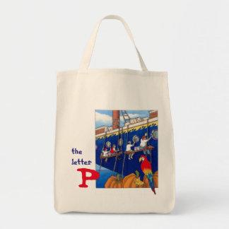 手紙P -食料雑貨の戦闘状況表示板 トートバッグ