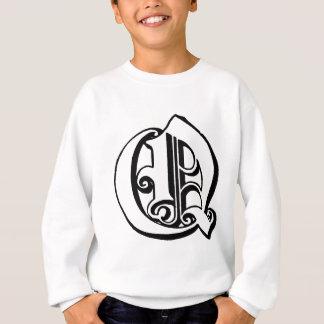 手紙Qのモノグラム スウェットシャツ