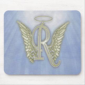 手紙Rの天使のモノグラム マウスパッド