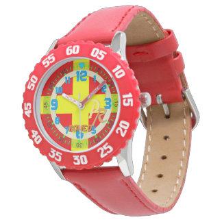 手紙Rロミオの海洋の旗の子供の航行 腕時計