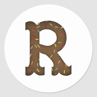 手紙R ラウンドシール