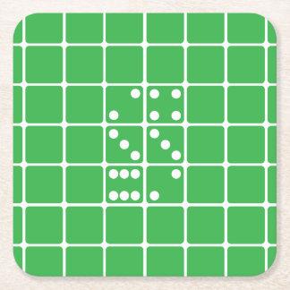 手紙Sのサイコロ スクエアペーパーコースター