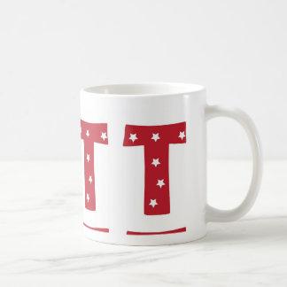 手紙T -えんじ色の白い星 コーヒーマグカップ