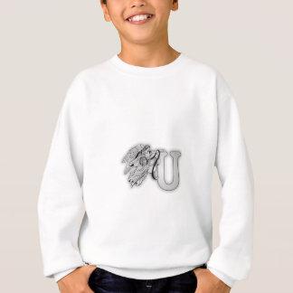 手紙Uの天使のモノグラムのイニシャル スウェットシャツ