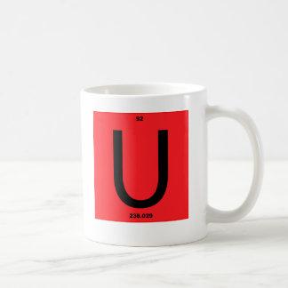 手紙Uの赤 コーヒーマグカップ