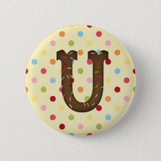 手紙U 5.7CM 丸型バッジ